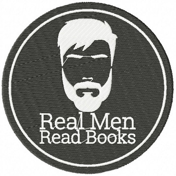 Real men read books - Book Lover #06 Machine Embroidery Design