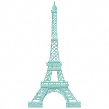 Eiffel Tower - French Cafe #06 Machine Embroidery Design