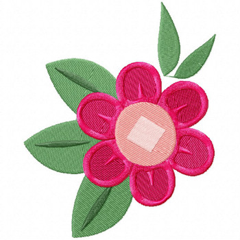 French Flower- French Cafe #08 Machine Embroidery Design