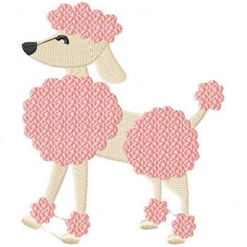 French Poodle - French Cafe #11 Machine Embroidery Design