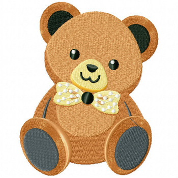 Stuffed Teddy Bear - Stuffed Toy #01 Machine Embroidery Design