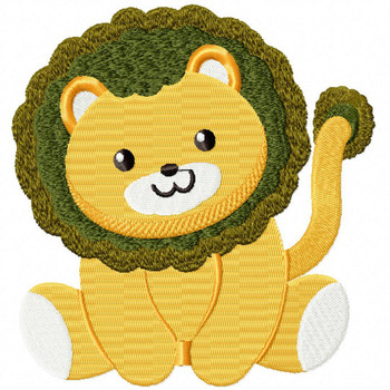 Stuffed Lion - Stuffed Toy #03 Machine Embroidery Design