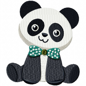 Stuffed Panda - Stuffed Toy #04 Machine Embroidery Design