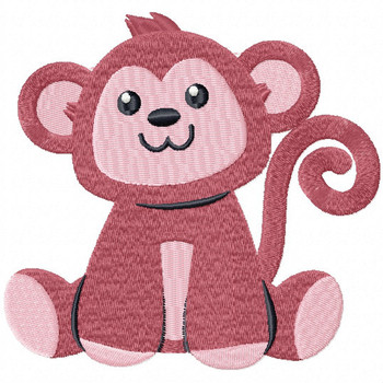 Stuffed Monkey - Stuffed Toy #07 Machine Embroidery Design