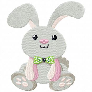 Stuffed Rabbit - Stuffed Toy #08 Machine Embroidery Design