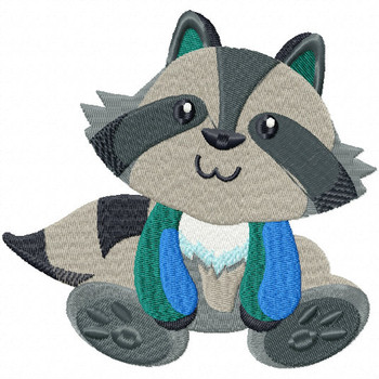 Stuffed Raccoon - Stuffed Toy #10 Machine Embroidery Design