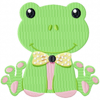 Stuffed Frog - Stuffed Toy #12 Machine Embroidery Design