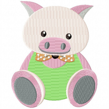 Stuffed Pig - Stuffed Toy #13 Machine Embroidery Design
