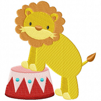 Carnival Lion - Carnival #04 Machine Embroidery Design