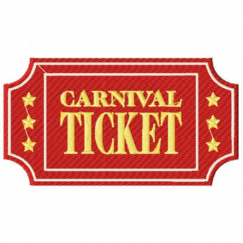 Carnival Ticket - Carnival #12 Machine Embroidery Design