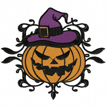 Jack O Lantern - Happy Halloween #02 Machine Embroidery Design