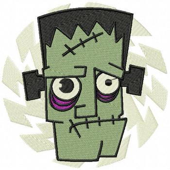 Frankenstein - Happy Halloween #07 Machine Embroidery Design