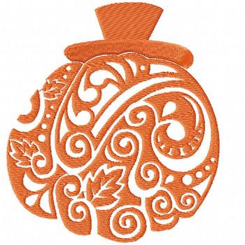Pumpkin - Happy Halloween #13 Machine Embroidery Design