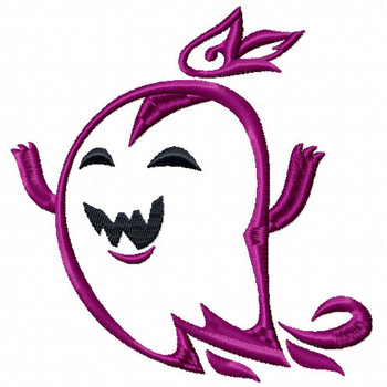 Halloween Ghost - Halloween #03 Stitched and Applique Machine Embroidery Design