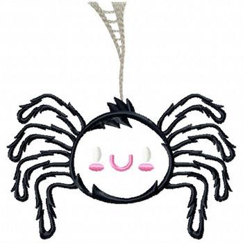 Halloween Spider - Halloween #07 Stitched and Applique Machine Embroidery Design