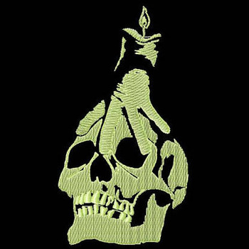 Skull - Glow in the Dark Halloween #07 Machine Embroidery Design