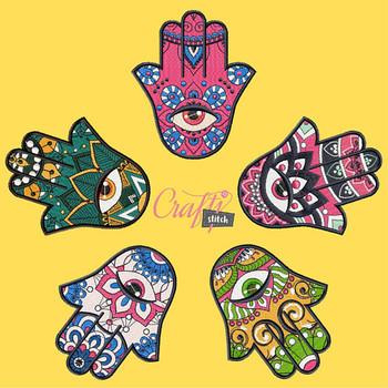 Hamsa Collection 5 Machine Embroidery Designs