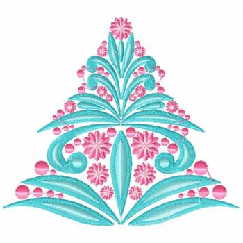 Christmas Tree #04 Machine Embroidery Design