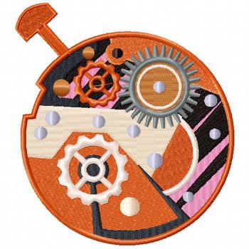 Steampunk Clockwork 01 - Steampunk #08 Machine Embroidery Design