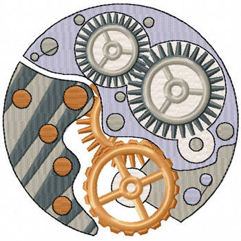 Steampunk Gears - Steampunk #12 Machine Embroidery Design