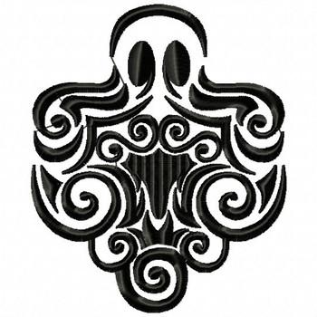 Ghost - Tribal Tattoo Halloween Design #07 Machine Embroidery Design