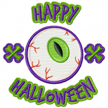 Halloween Eyes #01 Spooky Collection Machine Embroidery Design