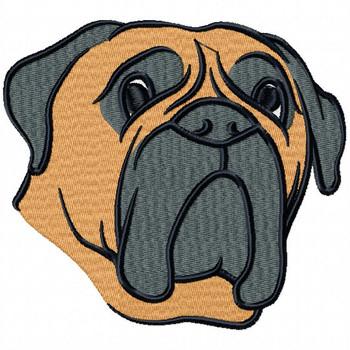 Bullmastiff Collection #04 Machine Embroidery Design