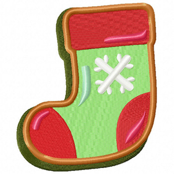 Stockings Cookie - Christmas Cookies #08 Machine Embroidery Design
