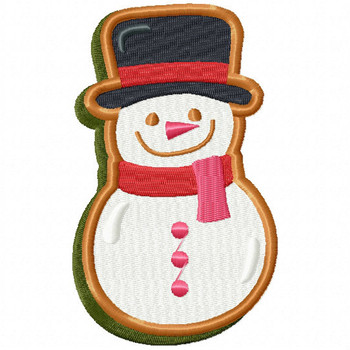 Snowman Cookie - Christmas Cookies #10 Machine Embroidery Design