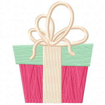 Holiday Gift - Christmas Gift #03 Machine Embroidery Design
