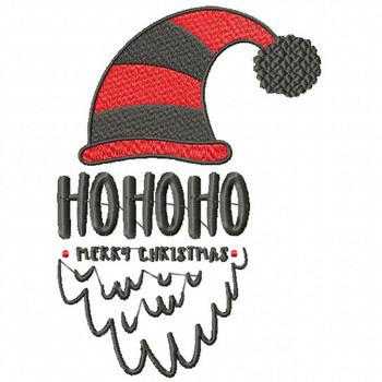 HoHoHo - Christmas Design #02 Machine Embroidery Design