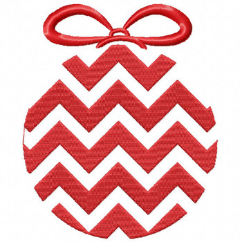 Chevron Ornament - Christmas Ornaments #02 Machine Embroidery Design