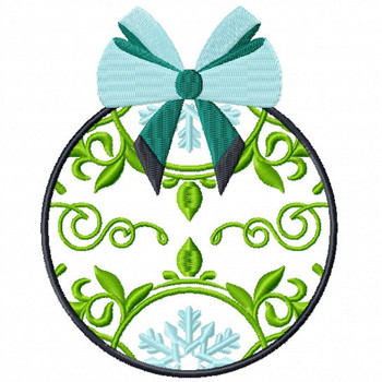 Green Decorative Ornament - Christmas Ornaments #08 Machine Embroidery Design