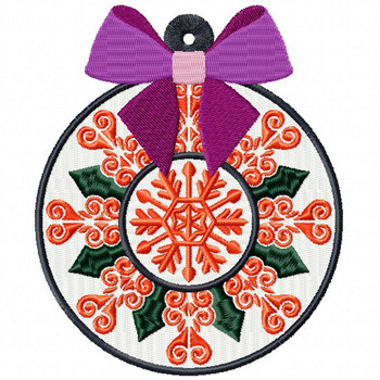 Orange Decorative Ornament - Christmas Ornaments #10 Machine Embroidery Design
