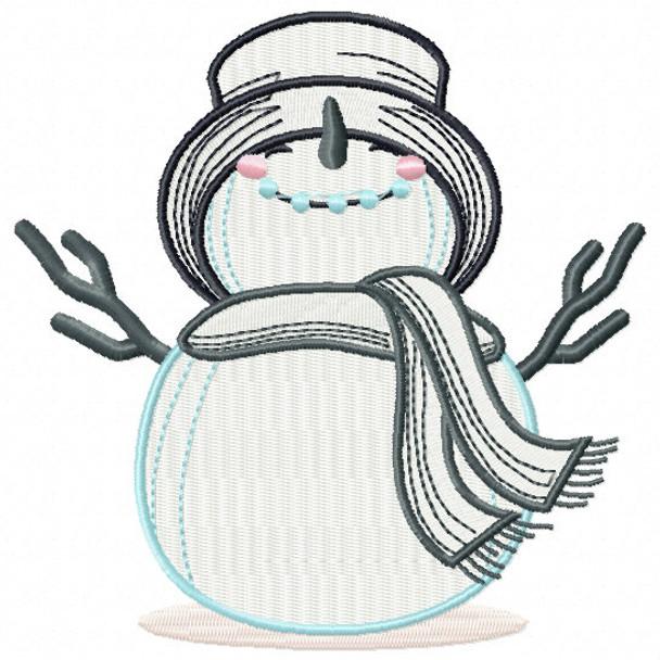 Oh Yeah Snowman - Snowman Version One #02 Machine Embroidery Design