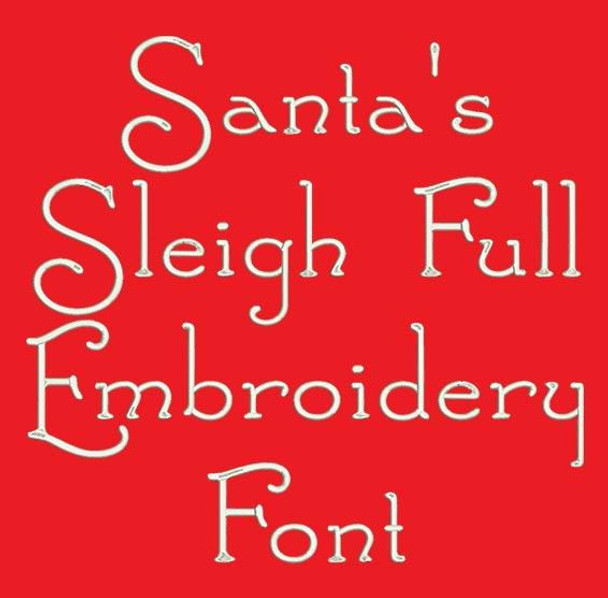 Santa's Sleigh Full Machine Embroidery Font Now Includes BX Format!
