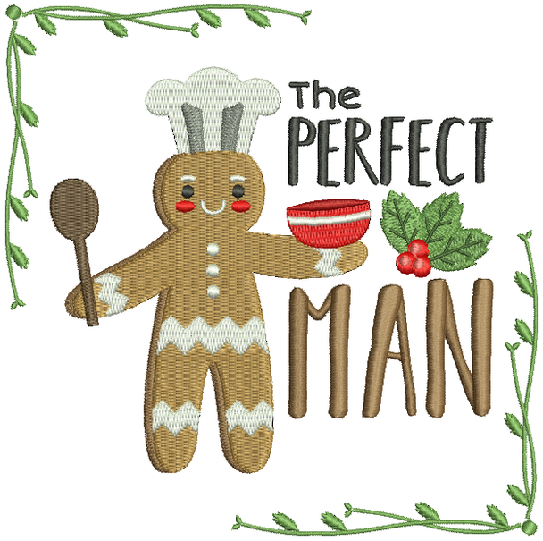The Perfect Ginger Man - Ginger Breads #08 Machine Embroidery Design