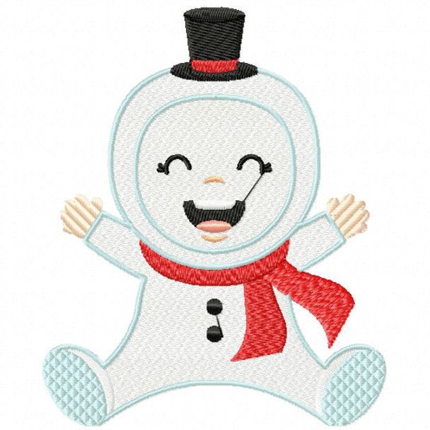 Snowman Baby - Christmas Baby #08 Machine Embroidery Design