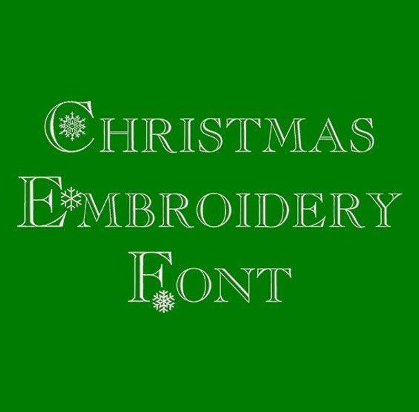 Christmas Machine Embroidery Font Now Includes BX Format!