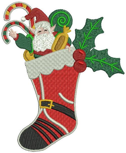 Christmas Stockings - Christmas Scene #03 Machine Embroidery Design