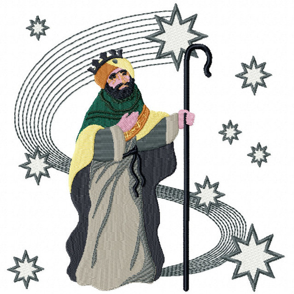 Three Kings 3 - Religious Christmas #06 Machine Embroidery Design