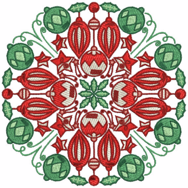 Christmas Mandala #04 Machine Embroidery Design