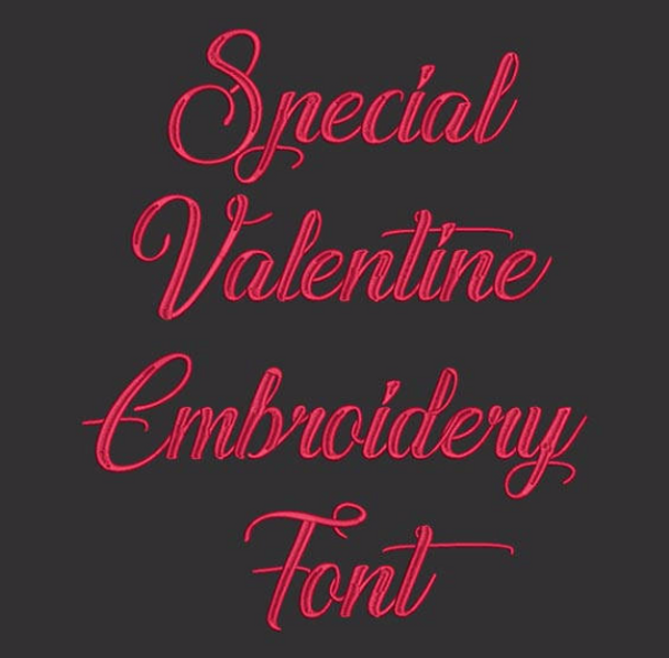 Special Valentine Machine Embroidery Font Now Includes BX Format!