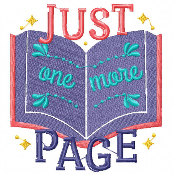 Just One More Page - Reading Hobby #04 Machine Embroidery Design