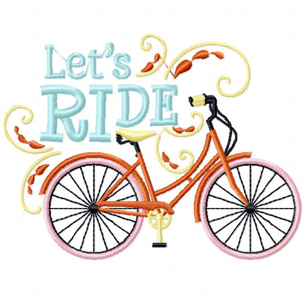 Let's Ride 2 - Cycling Hobby Collection #06 - Machine Embroidery Design