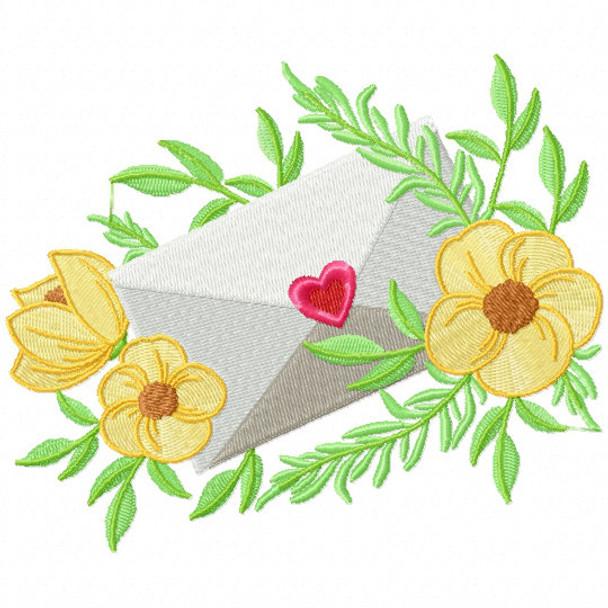 Valentine Love Letter Collection #01 - Machine Embroidery Design