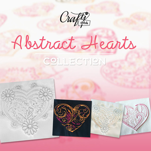 Abstract Heart Collection 12 Machine Embroidery Designs