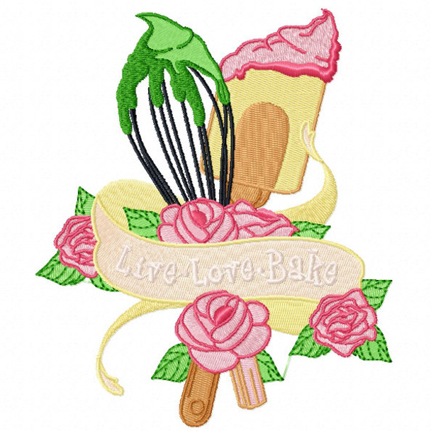Live Love BAKE - Baking Hobby Collection #06 - Machine Embroidery Design