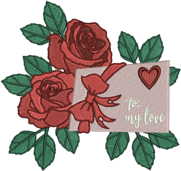 Valentine Love Letter Collection #04 - Machine Embroidery Design