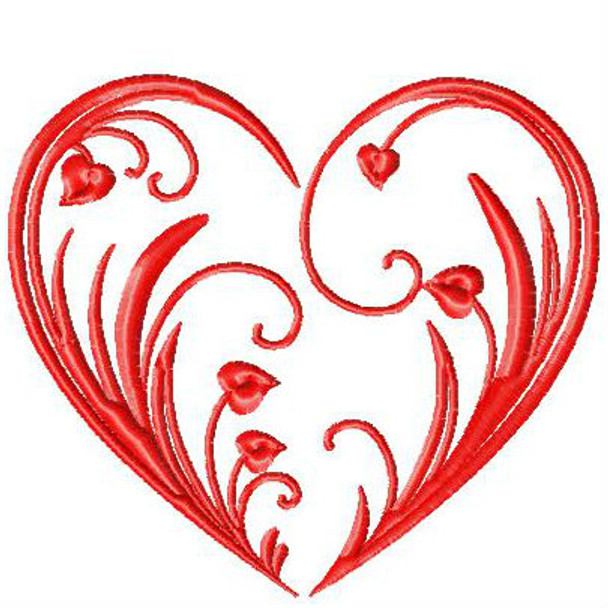 Valentines Hearts Typography Collection #01 Machine Embroidery Design